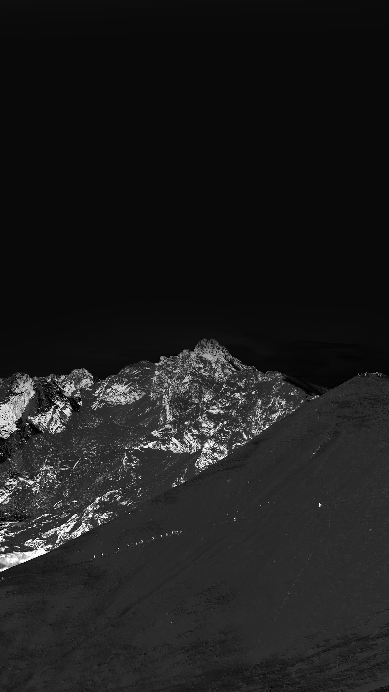 Amazing Wallpaper Mountain Ios 7 - Winter-Mountain-Snow-Bw-Nature-Dark  Graphic_95943.jpg