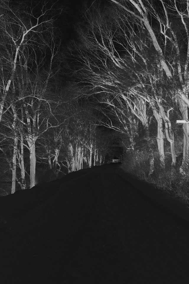 Winter Scary Road Nature Mountain Dark Android wallpaper