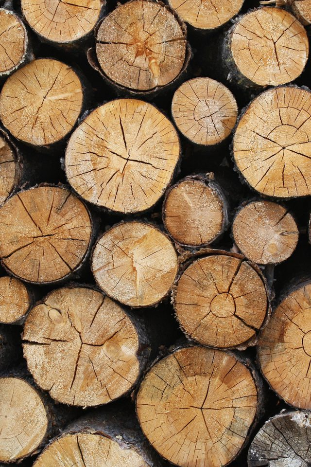 Wood Nature Cut Pattern Android wallpaper