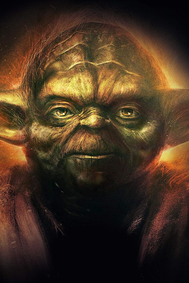 Yoda Starwars Art Dark Illlust Film Poster Android wallpaper