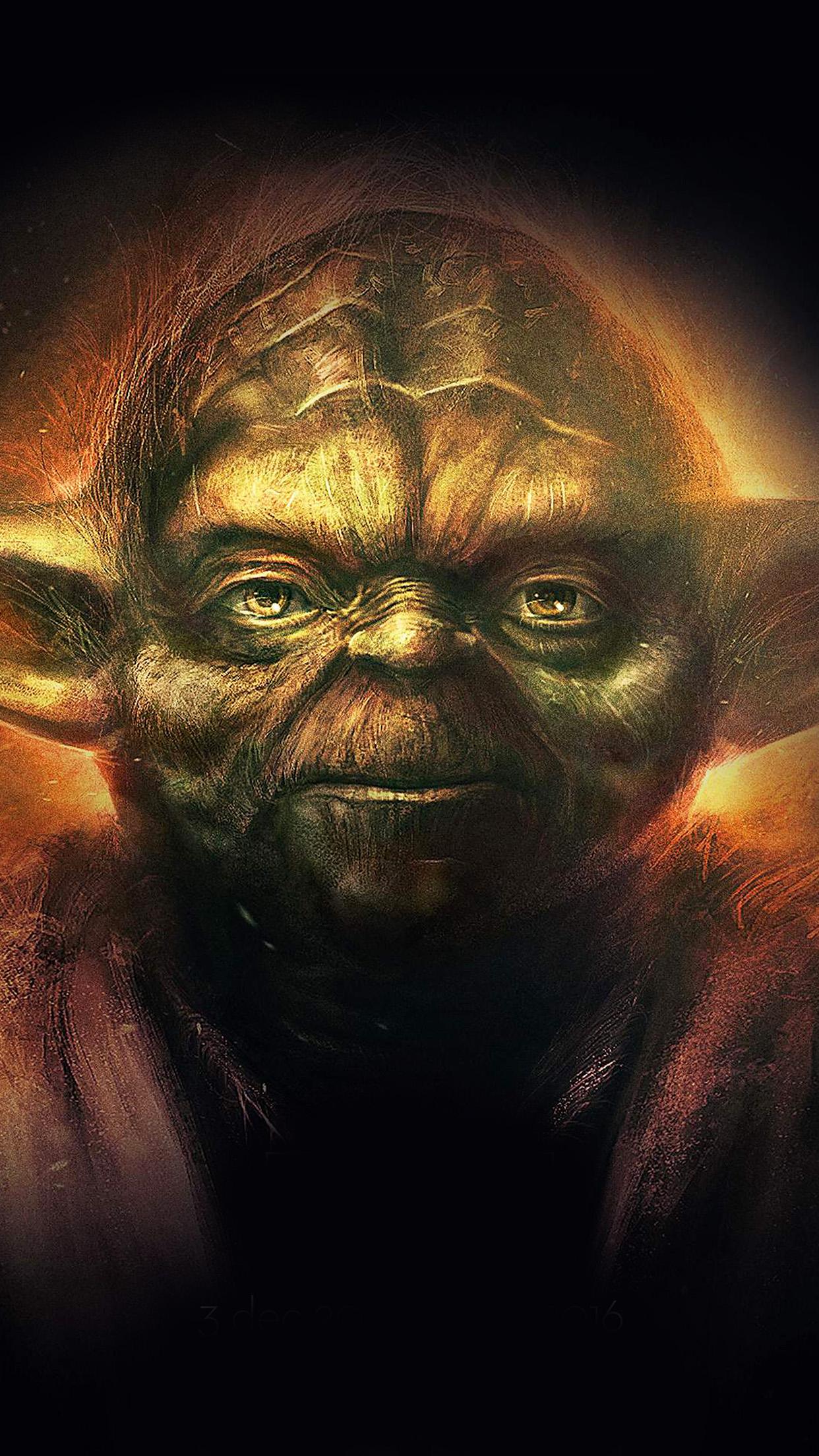 Yoda Starwars Art Dark Illlust Film Poster Android Wallpaper Android Hd Wallpapers