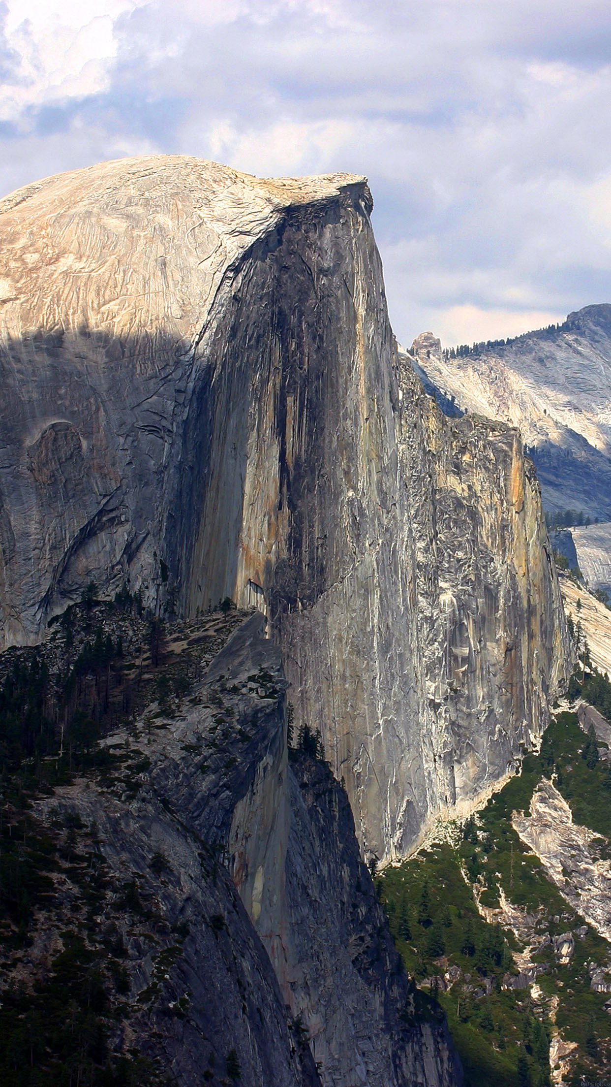 Yosemite Dome Mountain Summer Nature Android wallpaper