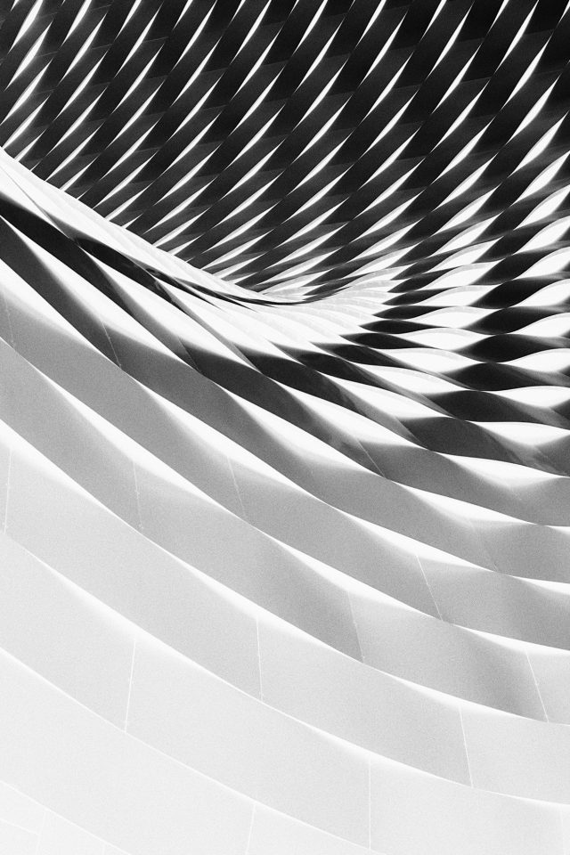 Art Architecture Dark City Bw White Pattern Android wallpaper