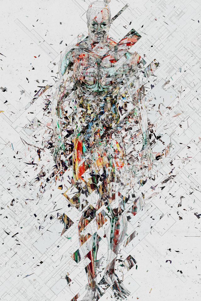 Art Fragmantacia Art Human Abstract White Android wallpaper