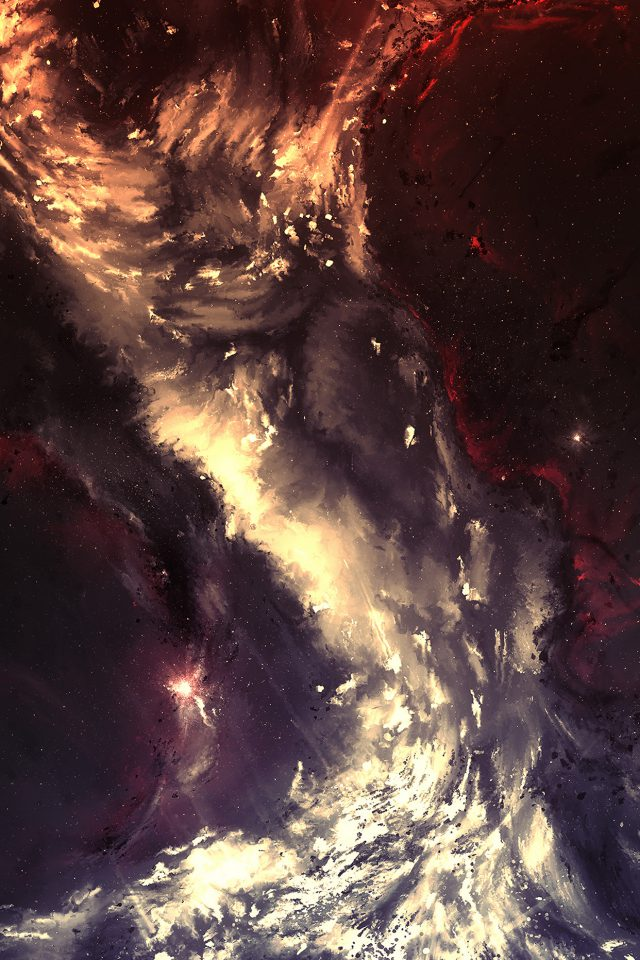 Art Painting Illust Art Hurricane Abstract Android wallpaper