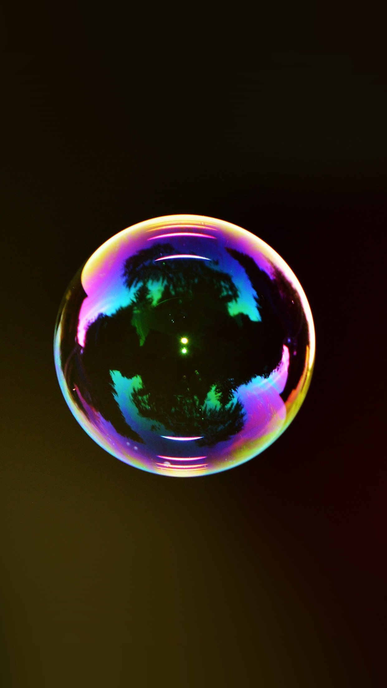 Bubble Circle Rainbow Color Bokeh Android wallpaper
