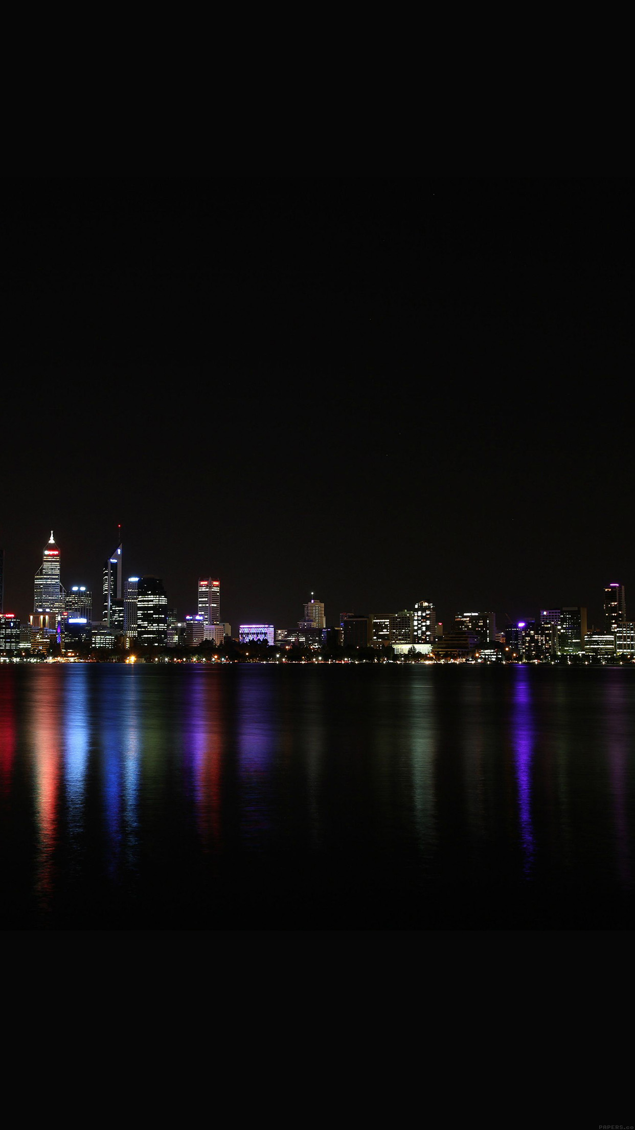 city night skyline architecture river dark android wallpaper