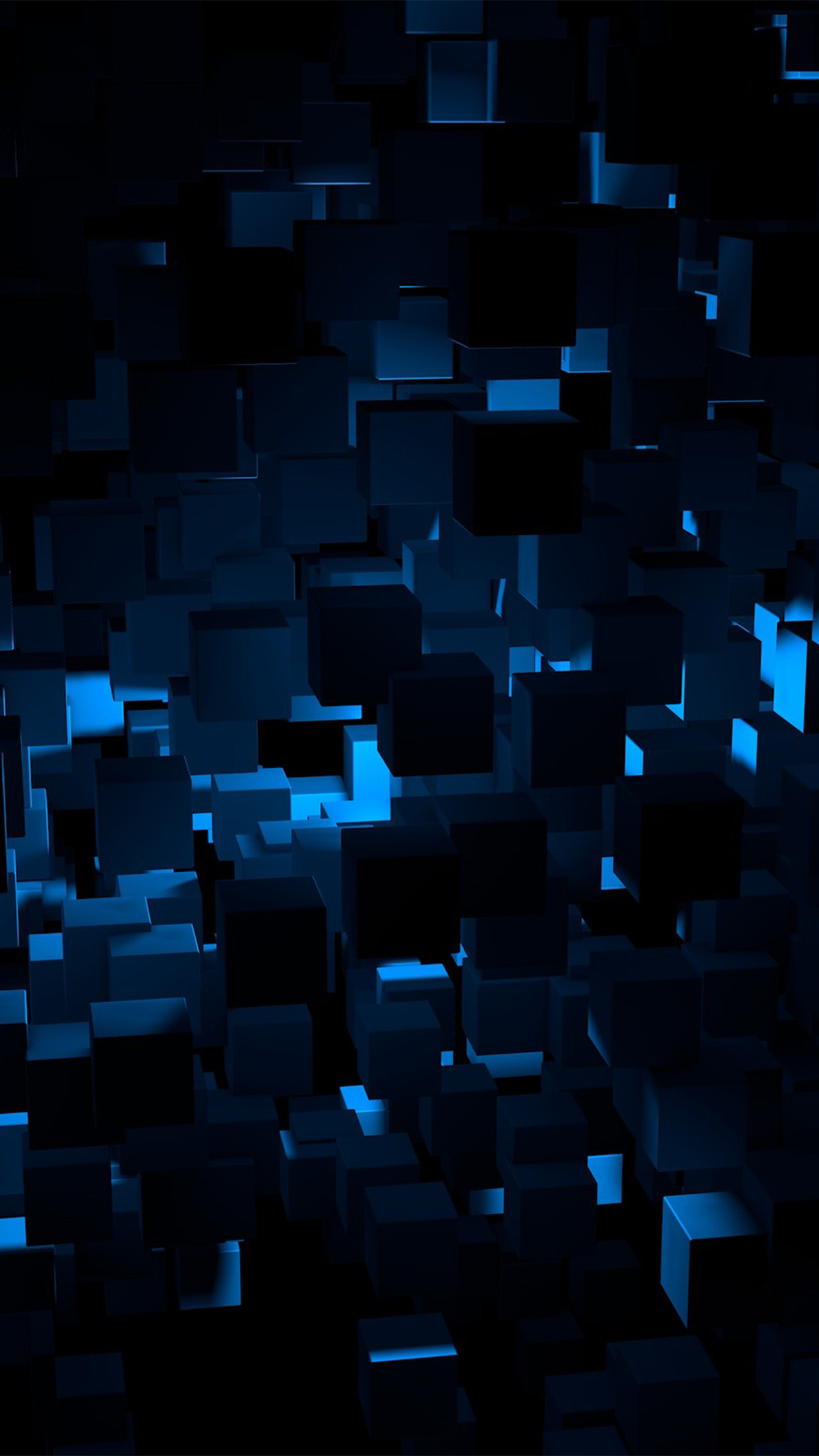 cube dark blue abstract pattern android wallpaper - android hd