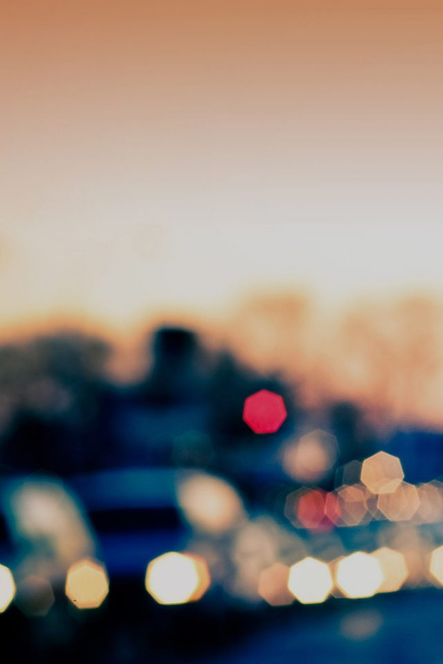 Drunken Town Bokeh Pattern Android wallpaper