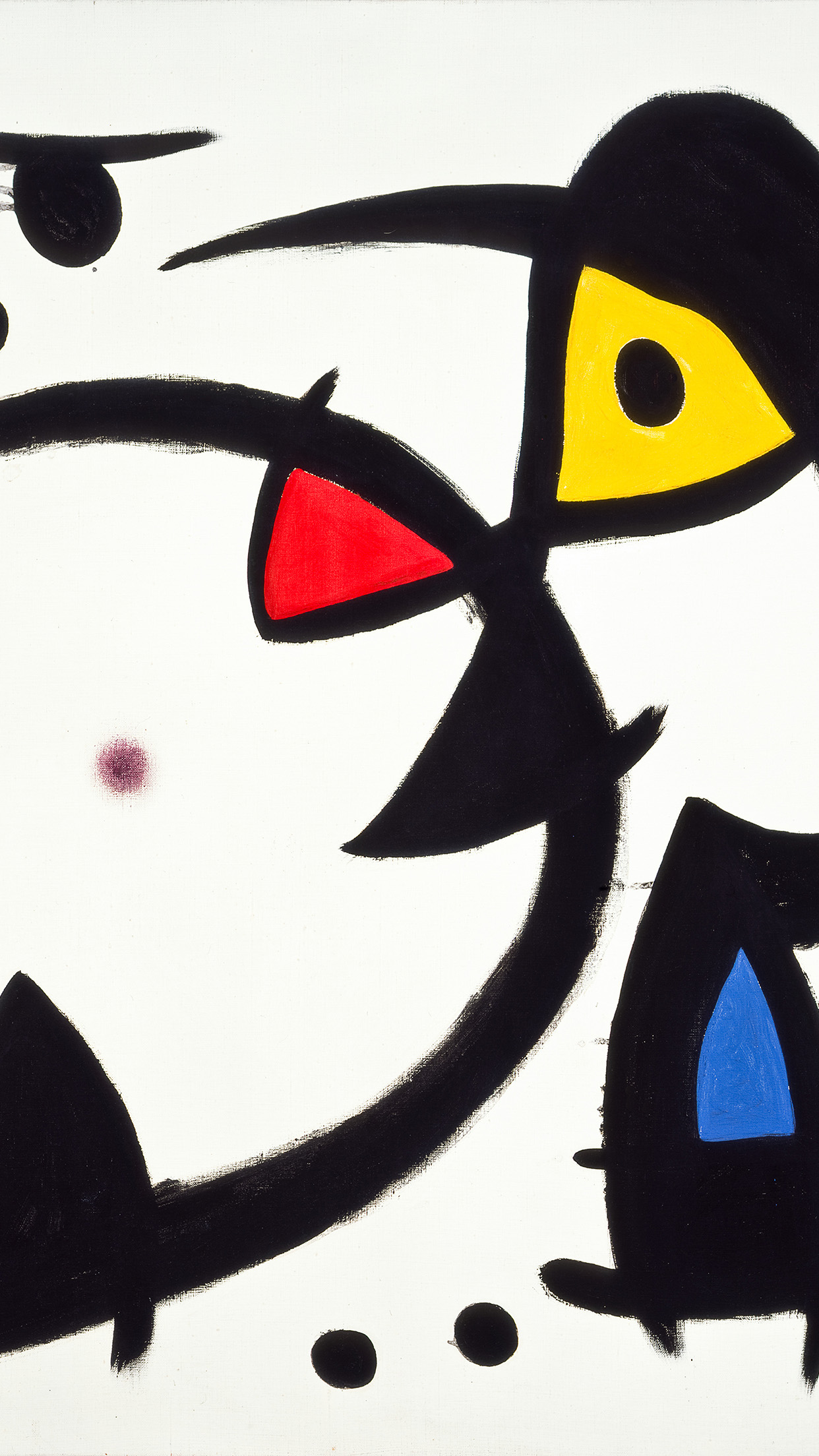 Fine Art Abstract Joan Miro Blue Classic Paint Art Illustration Android wallpaper