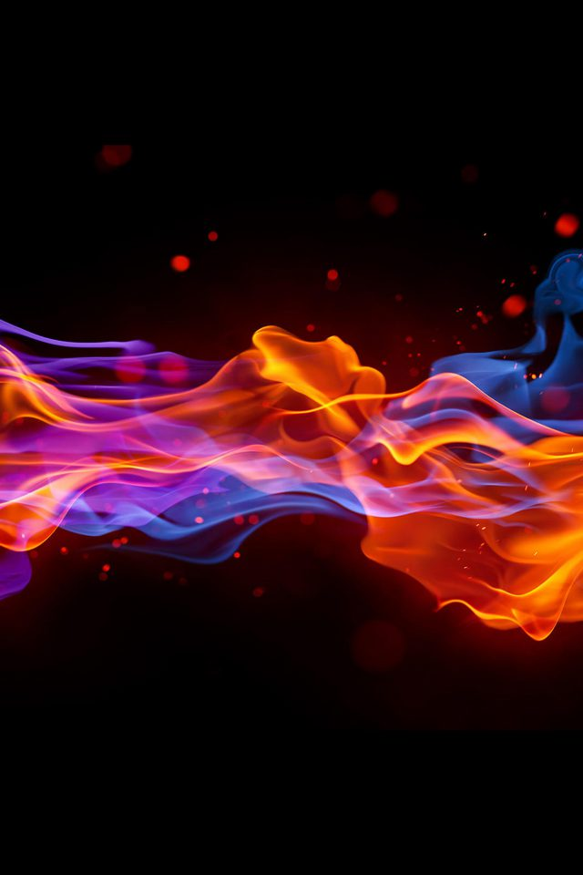 Fire Cold Abstract Pattern Android wallpaper