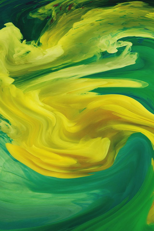 Hurricane Swirl Abstract Art Paint Green Pattern Android wallpaper
