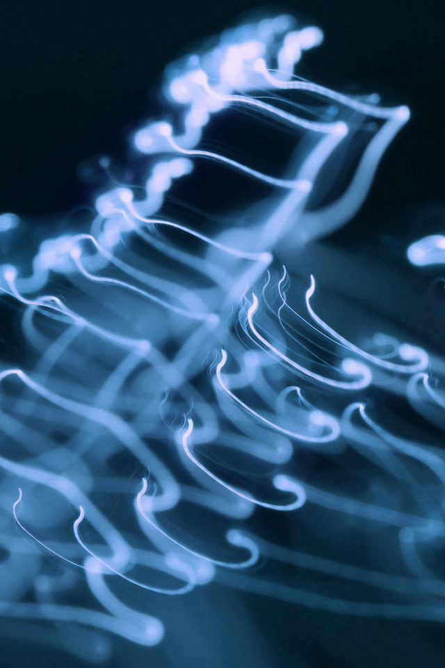 Ink Blue Soft Dark Smoke Bokeh Pattern Android wallpaper