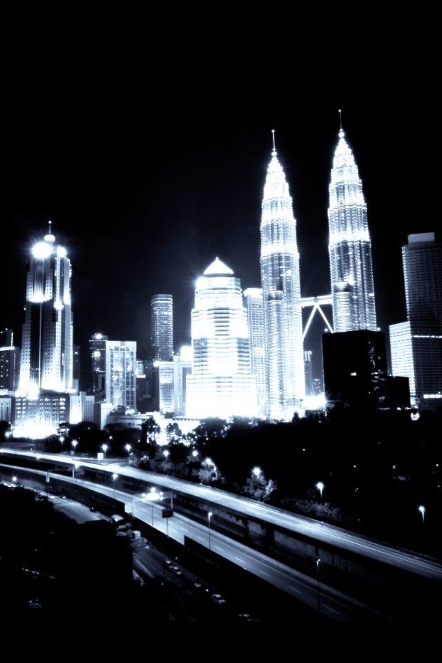 Kuala Lumpur Dark City Urban Art Illustration Android wallpaper