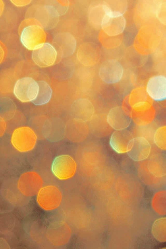 Light Bokeh Orange Pattern Android wallpaper
