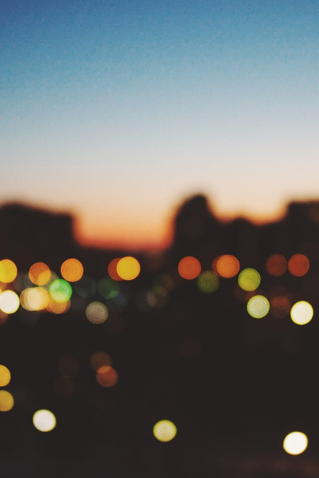 Light Bokeh Sunset City Android wallpaper