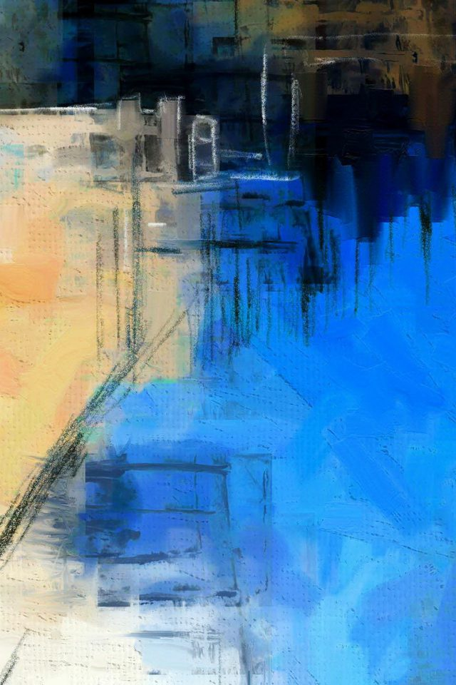 Paint Art Blue Illust Diet Abstract Android wallpaper