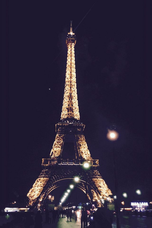 Paris City Art Night France Eiffel Tower Android wallpaper