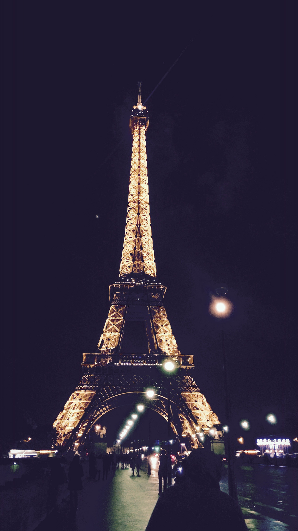 paris city art night france eiffel tower android wallpaper - android