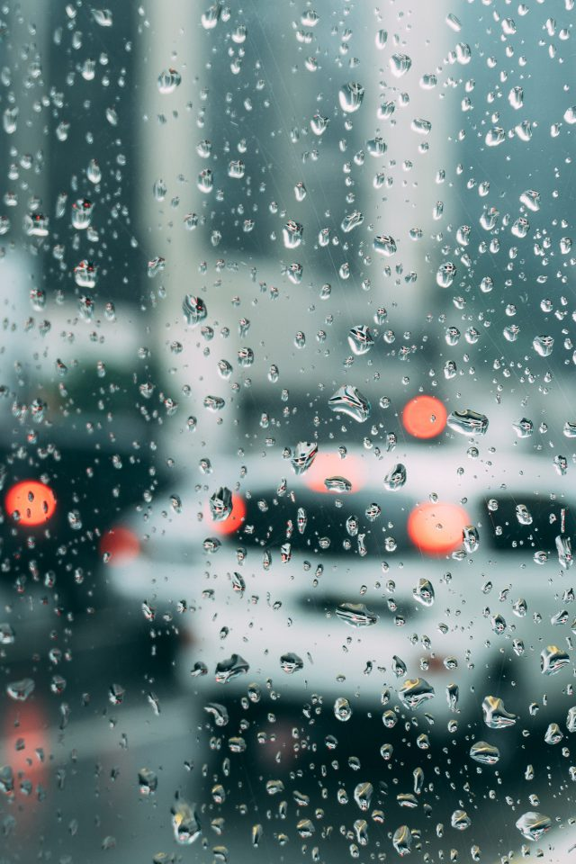 Rain Window Bokeh Art Car Sad Android wallpaper
