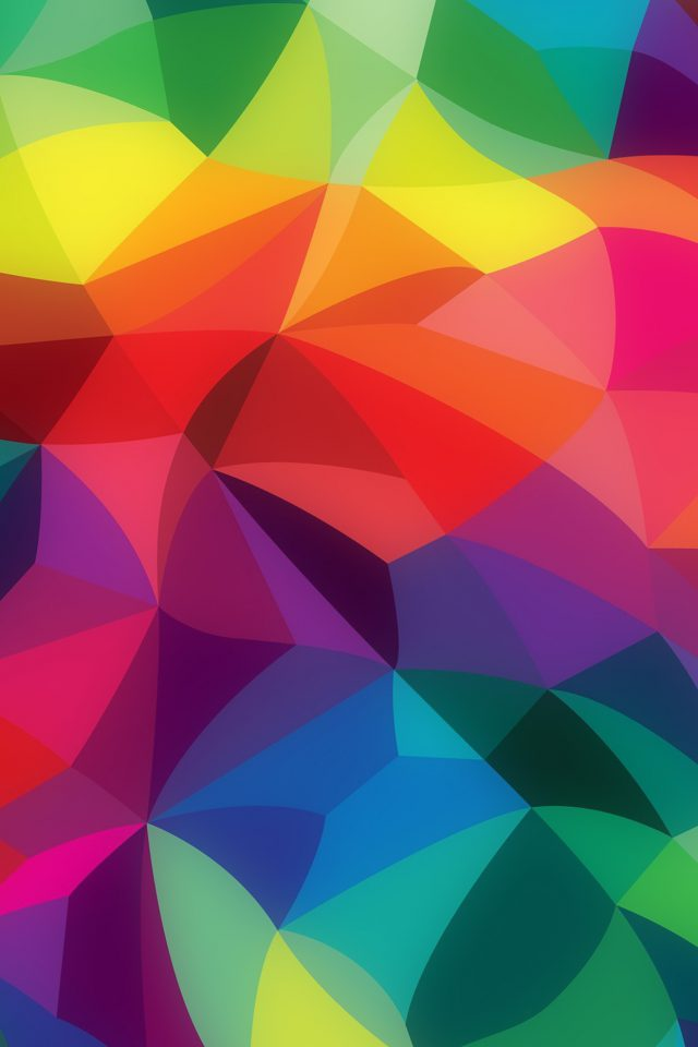 Rainbow Abstract Colors Pattern Android wallpaper