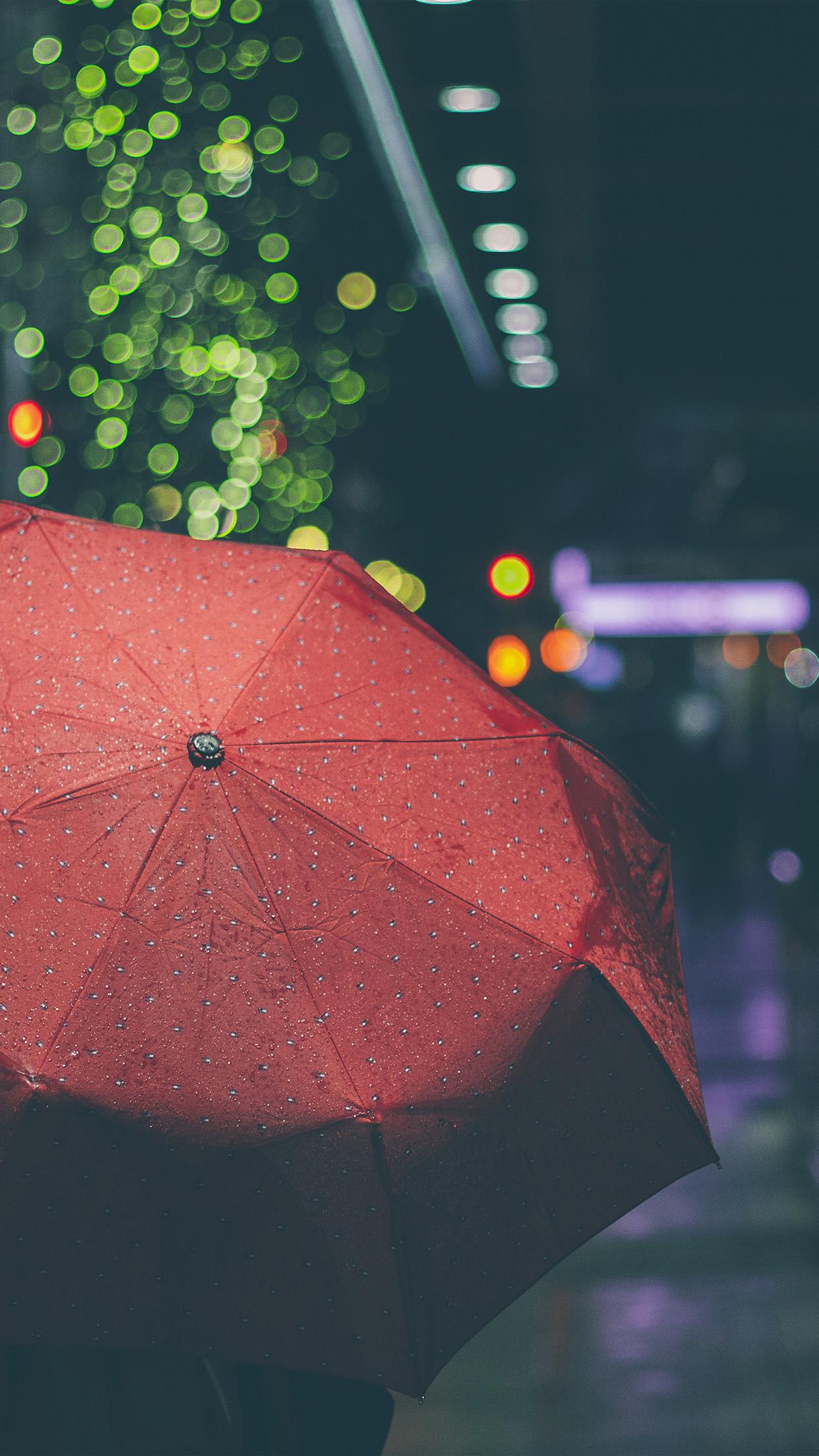 rainyday umbrella bokeh city night dark android wallpaper android hd wallpapers