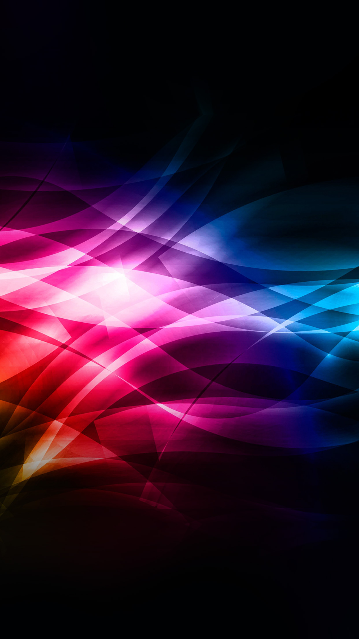 Smoke Rainbow Abstract Lines Pattern Android wallpaper