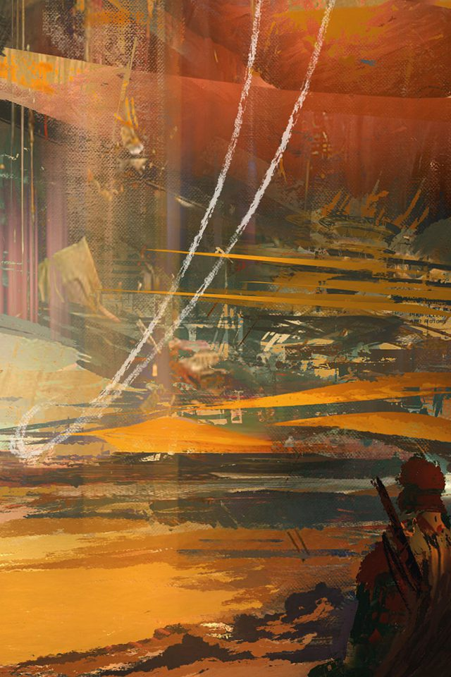 Wadim Kashin Paint Abstract Red Illustration Art Android wallpaper