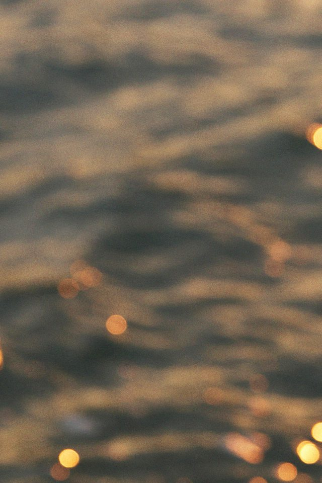 Wallpaper Night Lake Golden Bokeh Blur Android wallpaper