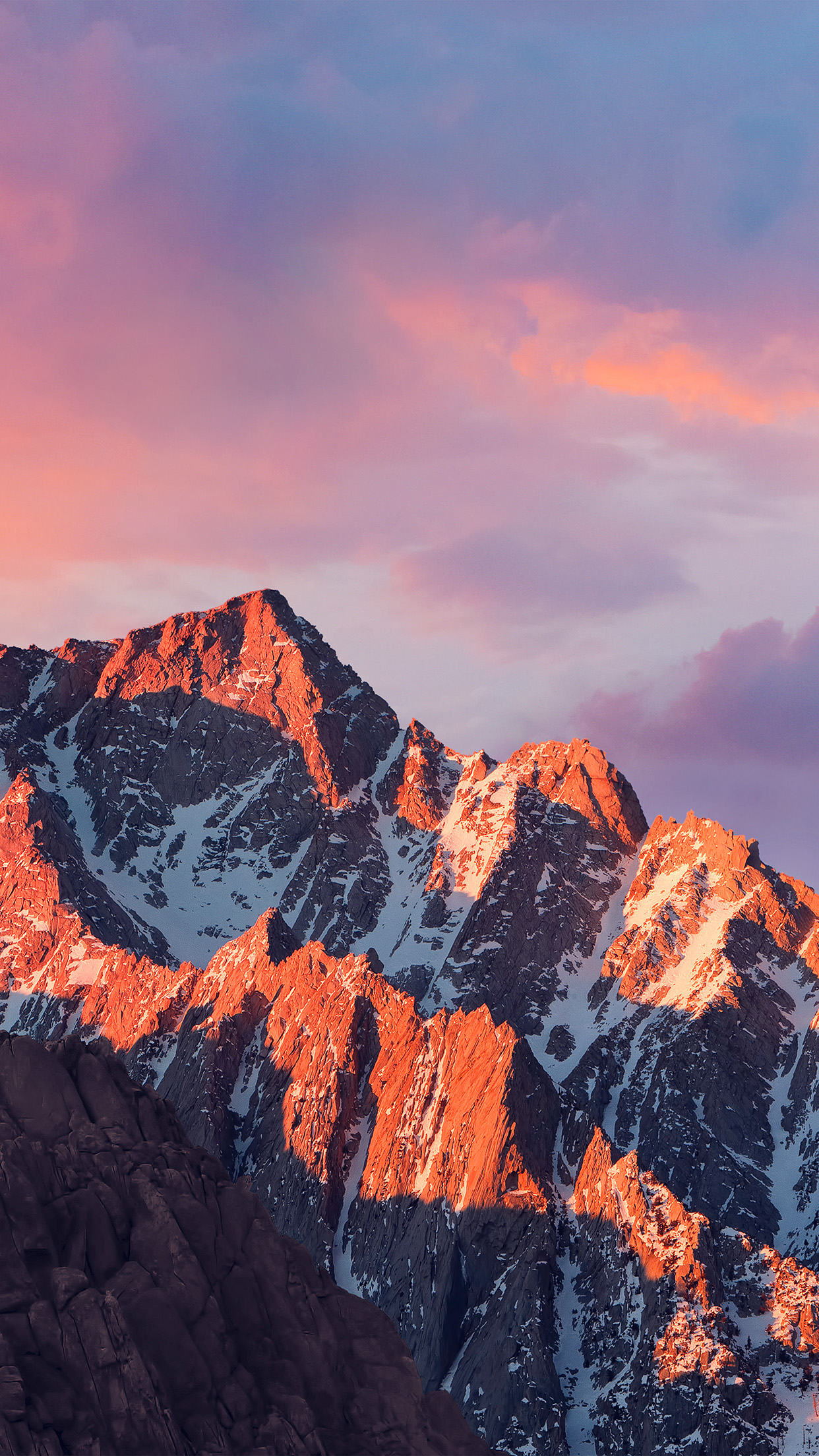 4k Sierra Apple Wallpaper Art Mountain Sunset Android wallpaper