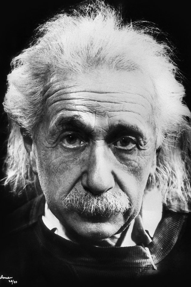 Albert Eistein Germany Dark Bw Scientist Android wallpaper