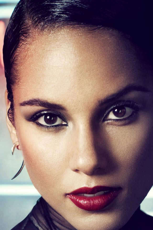 Alicia Keys Singer Songwriter Dark Celebrity Android wallpaper