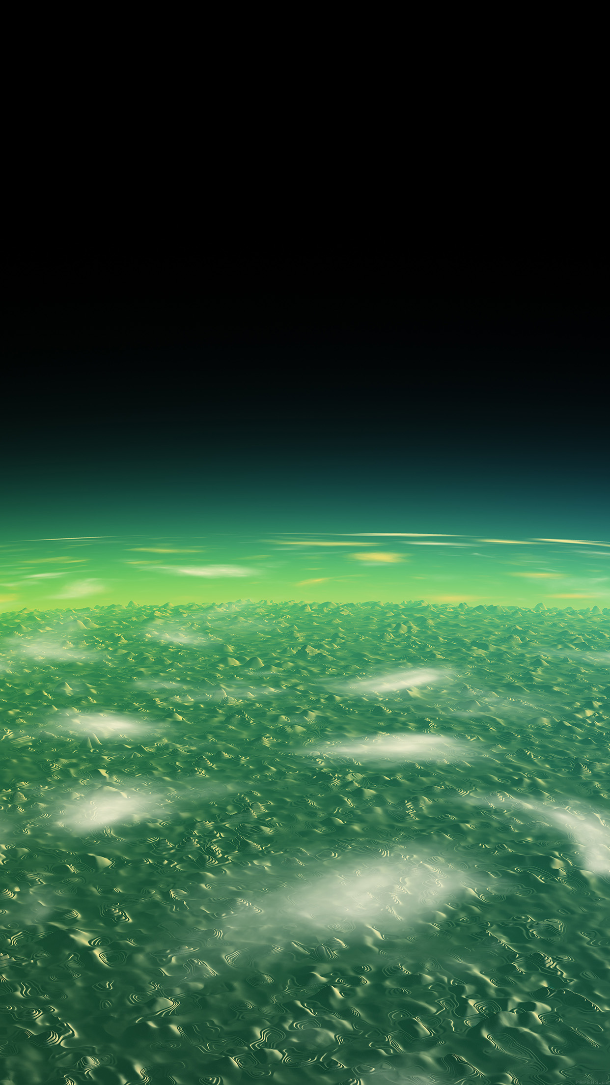 Alien Green Earth Space Planet Dark Android wallpaper