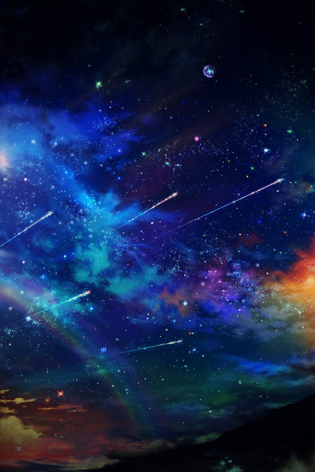 Amazing Vignette Tonight Sky Dark Star Space Android wallpaper