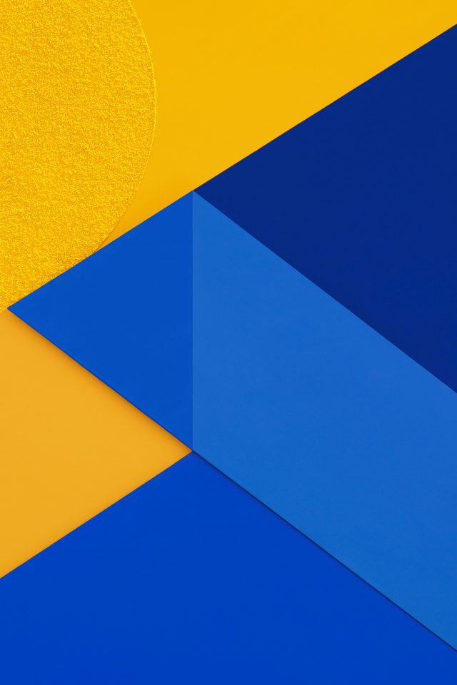 Android Marshmallow New Blue Yellow Pattern Android wallpaper