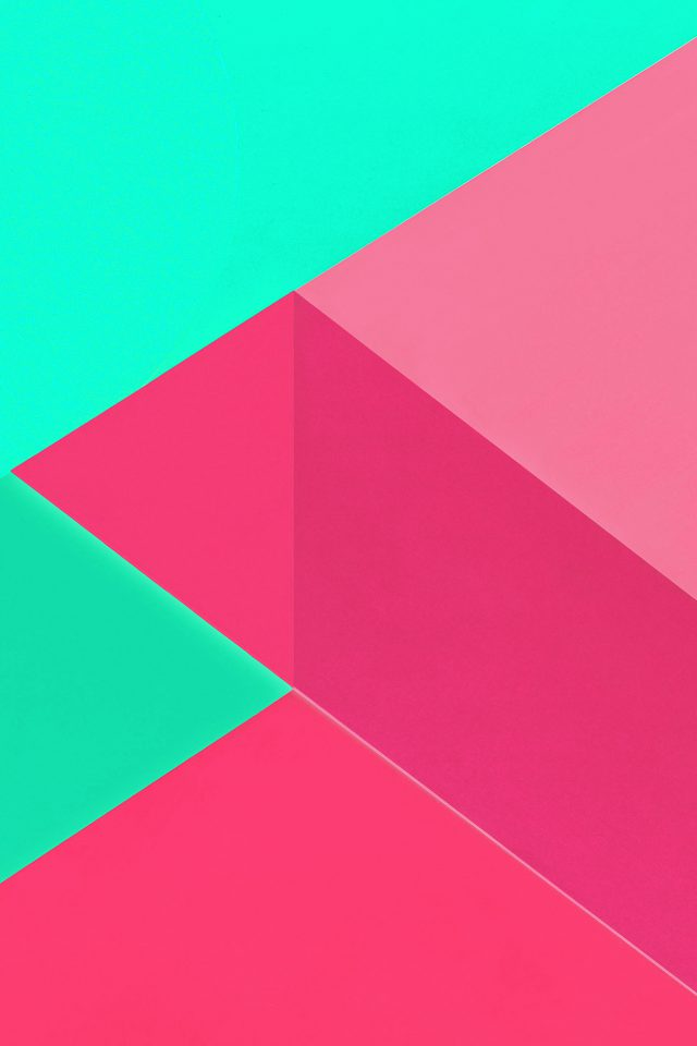 Android Marshmallow New Green Pink Pattern Android wallpaper