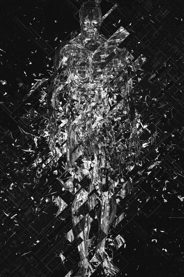 Art Fragmantacia Art Human Abstract Dark Bw Android wallpaper