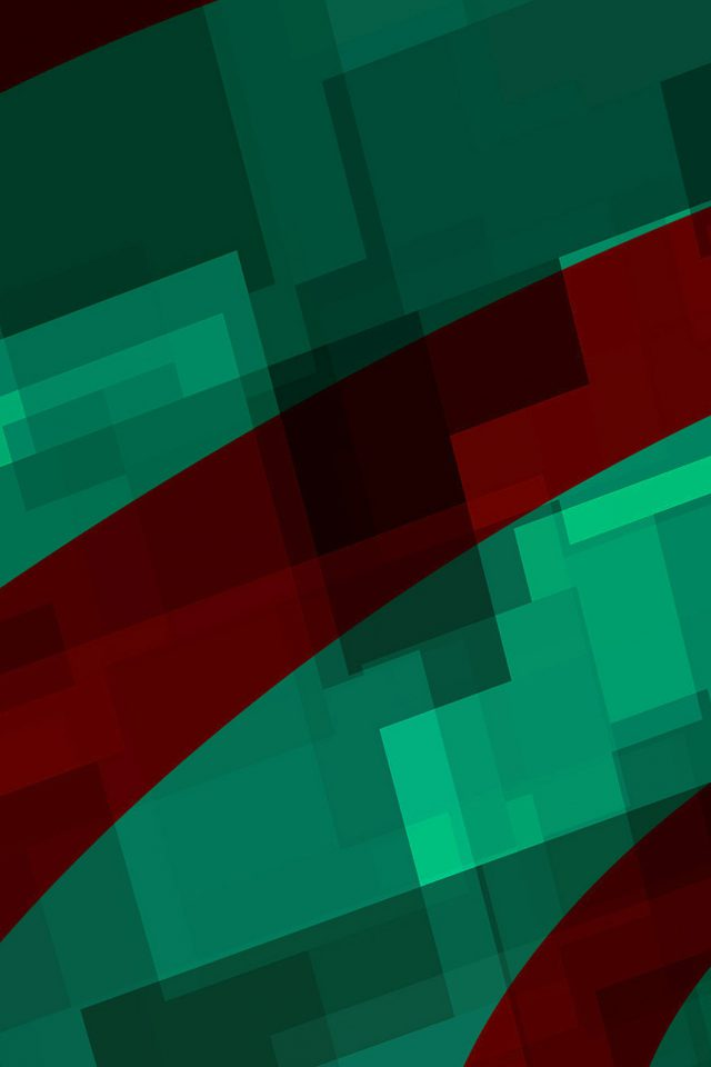 Art Green Red Block Angle Abstract Pattern Android wallpaper