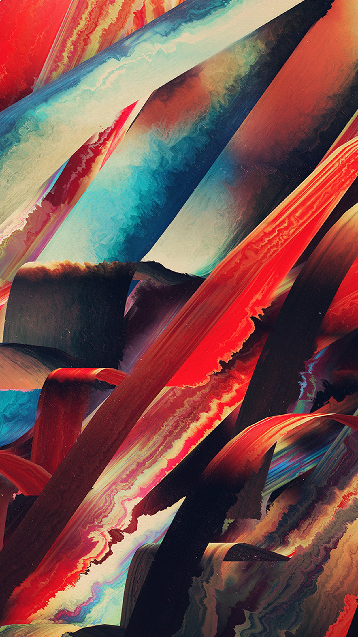 art paint hampus olsson pattern red dark abstract android wallpaper