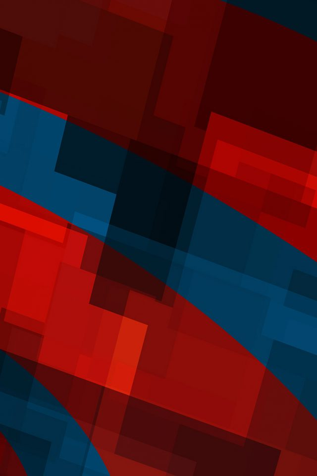 Art Red Blue Block Angle Abstract Pattern Android wallpaper