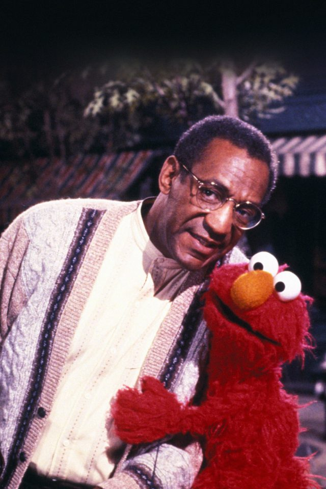Bill Cosby With Sesame Street Elmo Android wallpaper