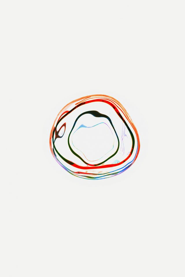 Bubble Apple Watch White Minimal Art Android wallpaper
