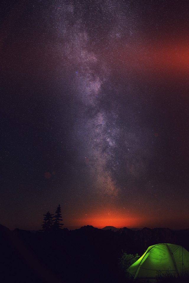 Camping Night Star Galaxy Milky Sky Dark Space Android wallpaper