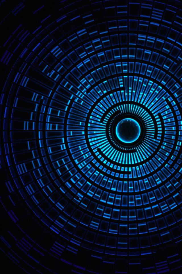 Circle Hole Blue Abstract Pattern Android wallpaper