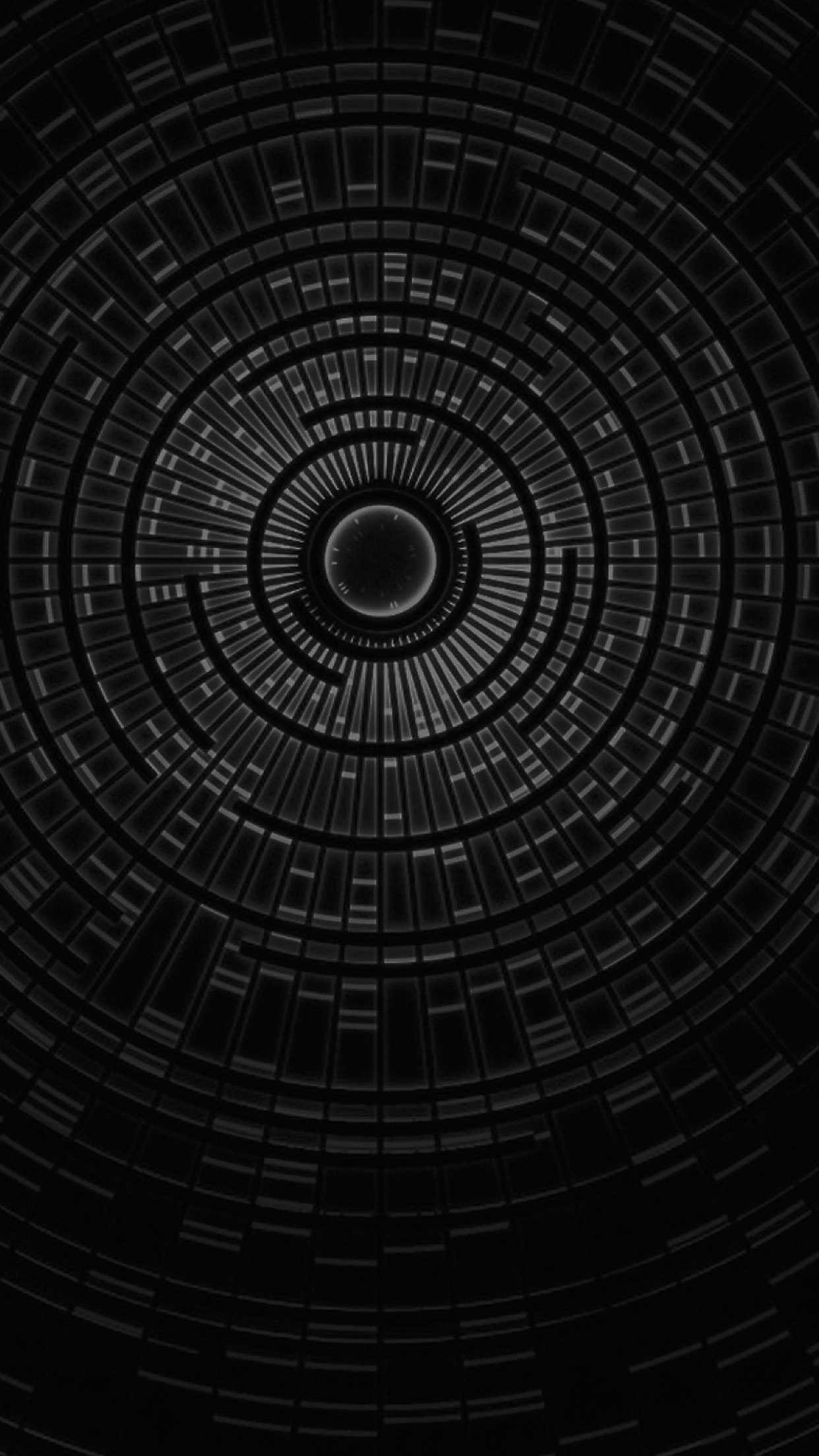 Circle Hole Dark Bw Abstract Pattern Android wallpaper