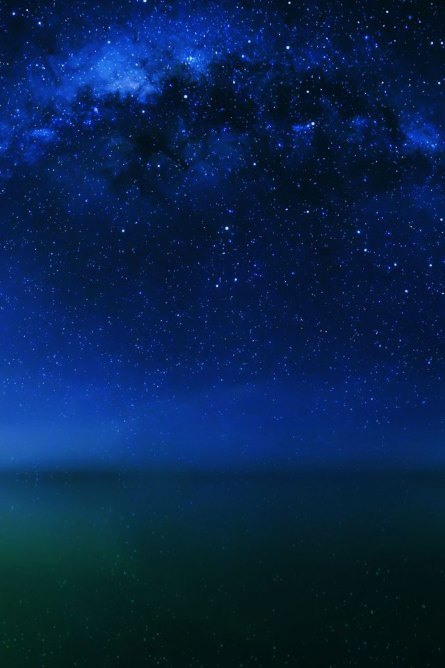 Cosmos Night Live Lake Space Starry Android wallpaper