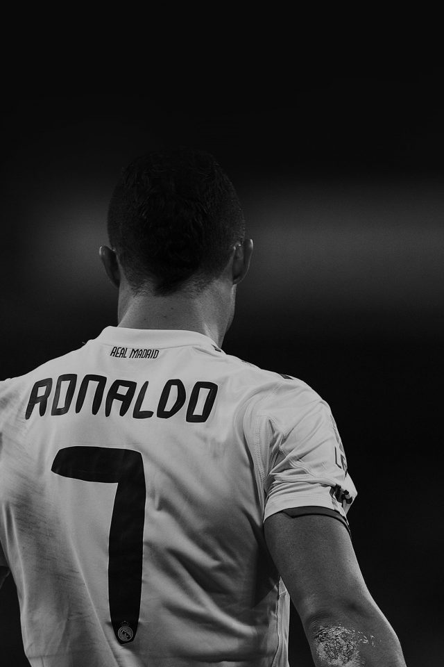 Cristiano Ronaldo 7 Real Madrid Soccer Dark Android wallpaper