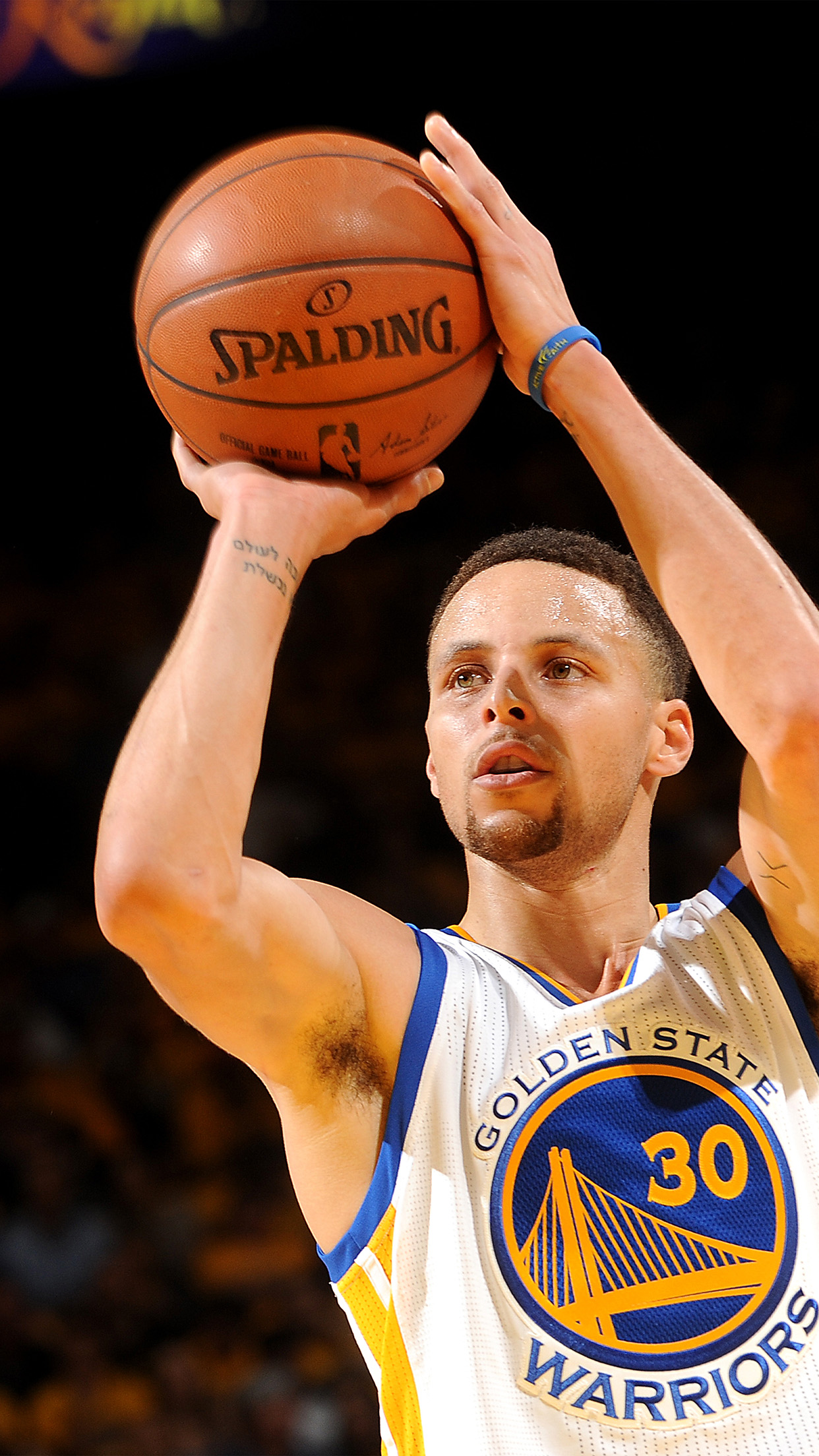 Curry Champion Nba Shoot Golden State Warriors Android Wallpaper