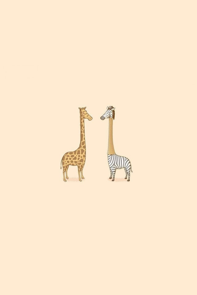 Cute Giraffe Yellow Animal Minimal Android wallpaper