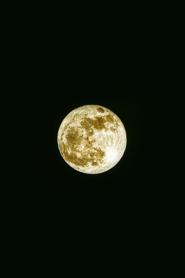 Damian Moon Yellow Dark Nature Space Sky Android wallpaper